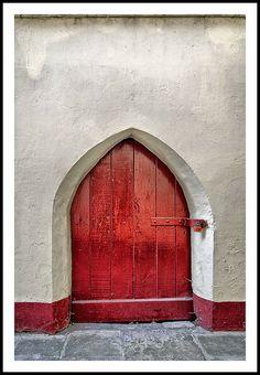 little red  medieval door, for little red medievals