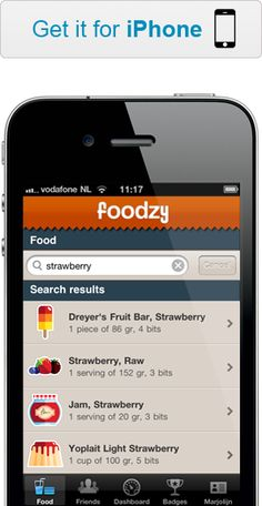 Foodzy // lets you keep track of what you eat, giving you in-depth statistics and badges for healthy living in return. Sign up at Foodzy.com or get the mobile app for iPhone or Android!