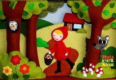 Kijkkast roodkapje - huisvolkleur