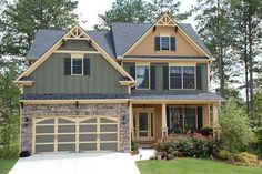 Craftsman Style House Plan - 4 Beds 3 Baths 2506 Sq/Ft Plan #419-202 Exterior - Front Elevation - Houseplans.com