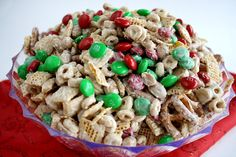 White Chocolate Chex Mix Candy