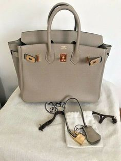 e66dc34035 HERMES BIRKIN 25 GRIS TRENCH TOGO LEATHER GOLD HW BAG  fashion  clothing   shoes  accessories  womensbagshandbags (ebay link)