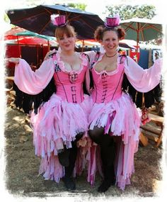 Pink Flamingos from Keep Calm and Craft On: Halloween Costume Ideas: Alice in Wonderland Costumes at the Rennaissance Faire