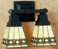 Meyda Tiffany Diamond Mission 2-Light Vanity 48192 | LampsUSA