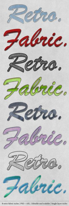 Retro Fabric Styles by graphicmind on Creative Market
