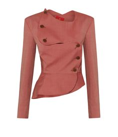 VIVIENNE WESTWOOD Rose Pink Tailored Evening Jacket. #viviennewestwood #cloth #