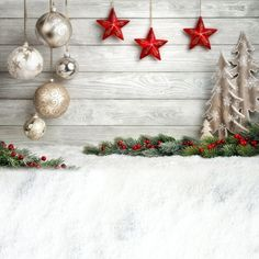 Cheap vinyl photographic background, Buy Directly from China Suppliers:Allenjoy Christmas background photography ball Stars child white wooden tree Decoration photographic photocall navidad backdrop Christmas Photo Background, Christmas Background Photography, Christmas Photography Backdrops, Christmas Photo Booth, Christmas Backdrops, Noel Christmas, Christmas Ideas, Christmas Table Centerpieces, Christmas Decorations