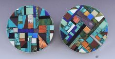 Image result for stone mosaic inlay earrings