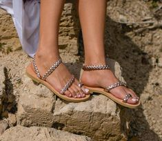 9 Stylish Ethical Sandals and Shoes for Summer - Terumah Rose Gold Sandals, Braided Sandals, T Strap Sandals, Sport Sandals, Flat Sandals, Greek Sandals, Toe Rings, Summer Shoes, Summer Sandals