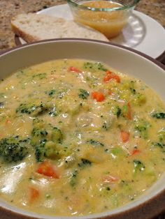 Broccoli Cheese soup. Looks easy