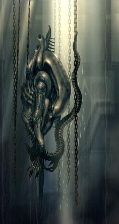 Aliens and Predators Giger Alien, Hr Giger, Les Aliens, Aliens Movie, Xenomorph Types, Science Fiction, Fiction Film, Saga Art, Alien 1979