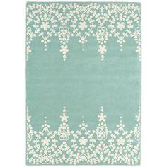 Gefunden bei Wayfair.de - Handgewebter Teppich Matrix in Blau