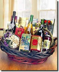 Wine Aficionado's Choice - 3 Bottles of Wine and Gourmet Collection