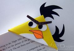 This would be fun for the boys.  Angry Birds Bookmark - Tip Junkie Creative Community
