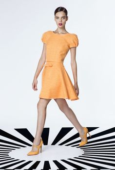 Georges Hobeika RTW Spring-Summer 2015 Look 42 Short Orange Dress