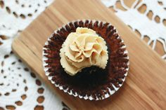 Gluten Free Peanut Butter Black Bean Cupcakes [ can be DF too if you replace the milk in the frosting]