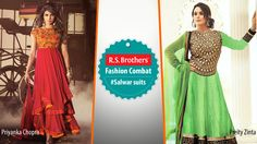 ‪#‎FashionCombat‬  Unveil the real traditional Diva in you, by wearing ‪#‎SalwarSuit‬!  These kinds of Salwar always give a special look in every event. Most of all Celebrities give their first preference for these traditional attires to grab all eyes on them! By the way in both whose looking more gorgeous in Salwar? Share your opinion in comments. (Image copyrights belong to their respective owners)