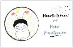 Die Monate lernen mit Mona Monatswurm. Eine Lerngeschichte für Kinder in Kita und Vorschule mit kostenlosem Printable zum Download. Viel Spaß!