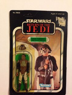Star Wars ROTJ Lando Calrissian Skiff Guard disguise MOC SW Vintage Action Figure Toy 80's Return of the Jedi $50