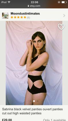 Estelle in the eclipse collection shot  by flavie brizard make up by Isabelle #blackvelvet #velvet #ouvert #highwaisted #lingerie #velvetlingerie #cutout