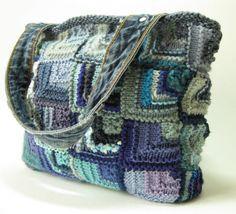 Knitted Bags, Handbag, Tote Bag, Modular Knitting Pattern PDF