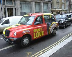 Marmite Love/Hate Taxi - How FUN! I have 2 model versions of these, I with the LOVE side showing and one with the HATE side showing :) Marmite, Taxi, Love, Amazing, Fun, Humor, Amor, Hilarious