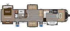 Montana Luxury 5th Wheel - 3820FK - Love this floorplan with the freestanding dinette