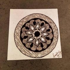 Life in a circle, life in tangles  #zentangle art #hollibaugh #pokeleaf #printemps #sakurapens www.facebook.com/snehartworks… Sakura Pens, Tangled, Zentangle, Facebook, Cards, Life, Instagram, Design, Spring