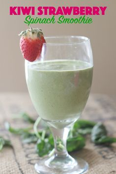 You'll love the fruity flavor in this kiwi strawberry smoothie and you'll really love the extra protein & nutrients from other ingredients in it too! This Mama Loves