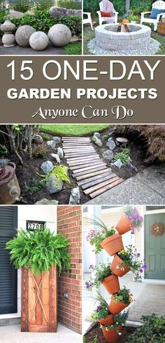 Creative and cool garden projects that are also budget friendly and easy to make. #backyardlandscapediyeasy