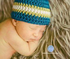 Newborn Hat Crochet Baby Hat Newborn Photo Prop by CarolinaHats