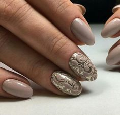 Opting for bright colours or intricate nail art isn't a must anymore. This year, nude nail designs are becoming a trend. Here are some nude nail designs. Manicure Nail Designs, Nail Manicure, Nail Art Designs, Nails Design, Design Design, Nude Nails, Acrylic Nails, My Nails, Fancy Nails
