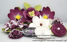 making handmade flowers as embellishments using Stampin' Up!'s dies, punches and other supplies