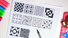 zentangle simple drawing pattern zentangles tricks doodle