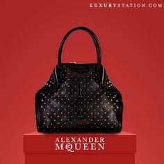 Alexander McQueen De Manta Large Studded Tote in India