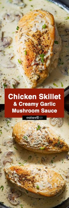 This Creamy Chicken and Mushroom is a quick yet comforting dinner made from scratch.It is made with sautéed garlic and mushrooms and topped with a creamy sauce. Serve with pasta for one incredible…