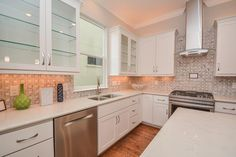 5408 Lacy Houston, TX 77007: Photo Modern/contemporary Kitchen With Quartz  Countertops And