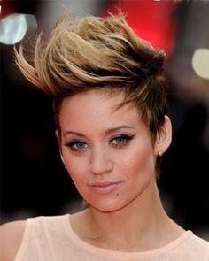 Two-tone/ombre fohawk | ✄Hair, Hair, & more Hair!✄ | Pinterest