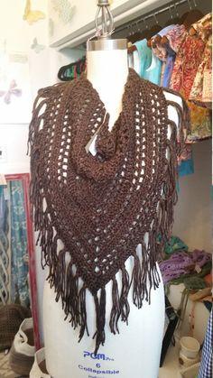 Écharpe motif écharpe frangée Bandana par CrochetingwithClaire
