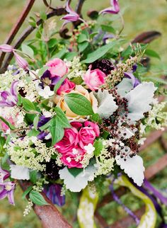 Wildflower and Rose Bridal Bouquet