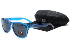 $8.99 Daily Deal Oakley Frogskins Transparent Blue Frame Dark Blue Lens www.sportsdealextreme.com