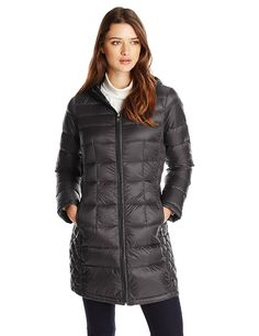 London Fog Women's Packable Down Jacket with Hood * Click on the image for additional details.