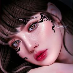 Fantasy Art Women, Fantasy Girl, Digital Art Girl, Digital Portrait, Aesthetic Makeup, Aesthetic Girl, Black Pink Dance Practice, Lisa Blackpink Wallpaper, Black Pink Kpop