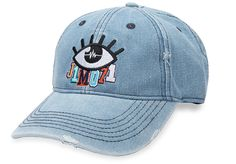 Cute and cool Curved Cap in denim-look with the Logo Unisex cotton Lisa, Light Blue, Summer Outfits, Baseball Hats, Cap, Unisex, Eyes, Denim, Clothes