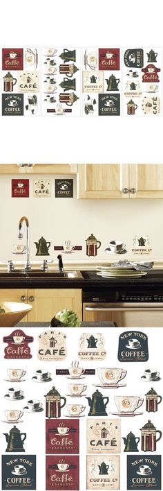 Coffee House Bakery Shop Cafeteria Lounge Room Kitchen Wall Sticker Decor... New $9.66