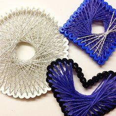String art hama bead ornaments by leahsejrup