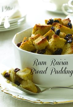 Rum Raisin Bread Pudding is just like a french toast, perfect for Mother's Day