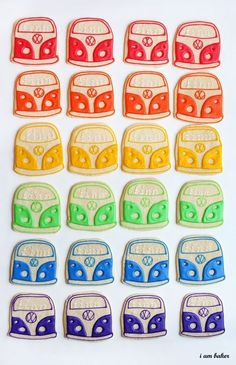 Retro Bus Cookies by estela
