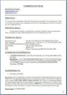 templates cv word - Curriculum Vitae Resume Format Doc