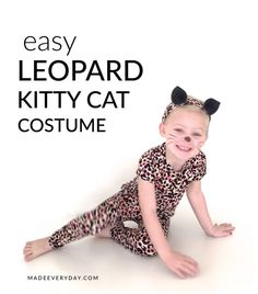 How to make a Leopard Kitty Cat Costume on MADE Everyday.  A fun spin on an old favorite!